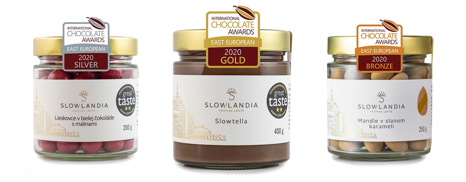 Víťazné produkty Slowlandia na International Chocolate Awards