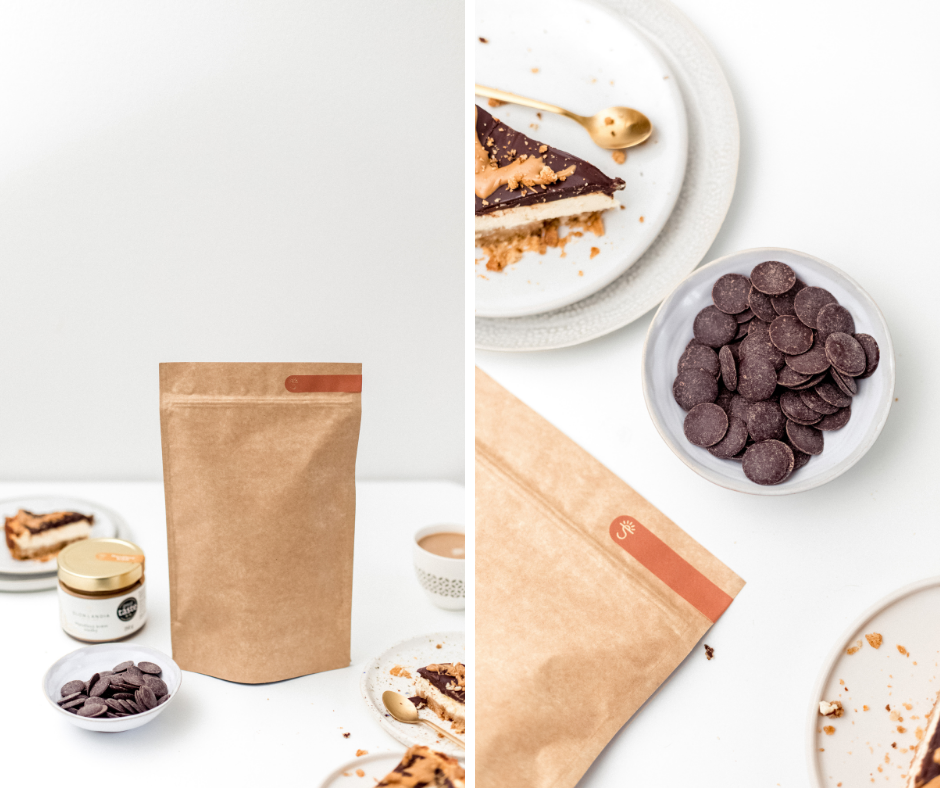 cheesecake s čokoládou a mandľovým krémom